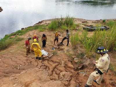 Borracho cayo en la barranca del río Paraná y MURIÓ