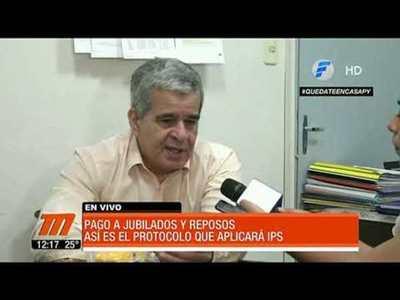 IPS garantiza pago jubilatorio