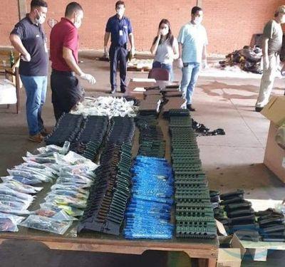 Incautan carga de armas en el aeropuerto Guaraní