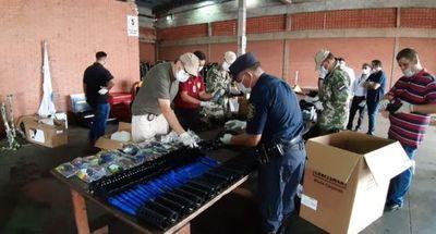 Hallan 130 fusiles desarmados en el aeropuerto Guaraní de Minga Guazú