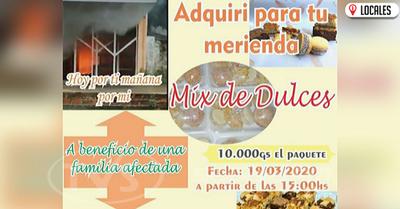 Noble actividad a beneficio de la familia afectada por el incendio en San Pedro del Paraná