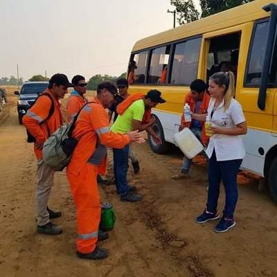 Implementan medidas de higiene a obreros en Ñeembucú.