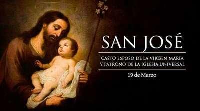 Hoy es la Solemnidad de San José, Esposo de la Virgen María y Patrono de la Iglesia Universal