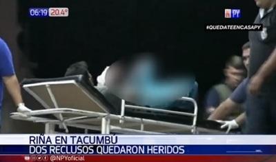Gresca en Tacumbú termina con dos reos heridos
