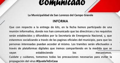 """Kit alimentario: Municipalidad espera """"las directrices y los requisitos"""" de la SEN"""