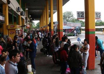 Terminal de ómnibus de Asunción cierra desde hoy