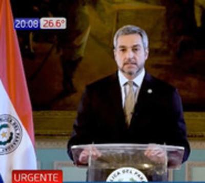 Presidente de la República ordena aislamiento total