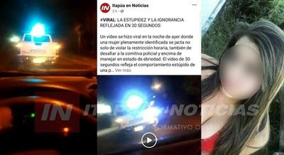 Identifican a mujer que se burló del control policial por la cuarentena