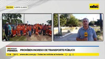 Fuerte Olimpo: Prohíben ingreso de transporte público