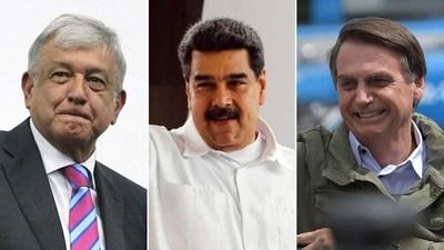 """El coronavirus y los populistas latinoamericanos. Bolsonaro: """"Histeria"""". López Obrador: """"Usemos amuletos"""". Maduro: """"Arma imperial contra China"""""""