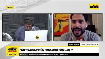 """Covid-19: """"Me comunico con mi tía que vive conmigo solamente por celular"""", relata paraguayo residente en Italia"""