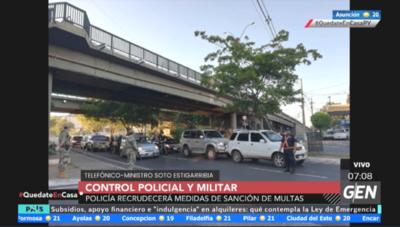HOY / Policía y Militares controlan vehículos en la Avenida Mariscal López y Madame Lynch