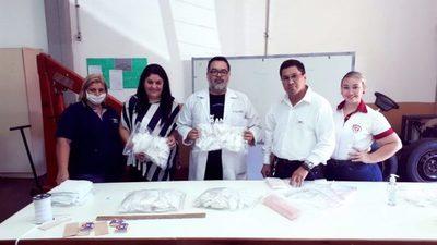 Entregan donaciones de tapabocas confeccionados en Ciudad del Este