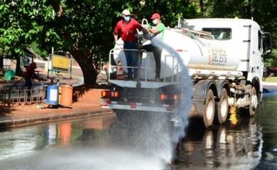 Municipalidad de CDE realiza desinfección para prevenir el Coronavirus
