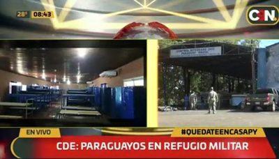 Paraguayos ingresan del exterior y son enviados a refugio militar