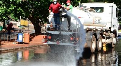 Ciudad del Este intensifica trabajos de desinfección en todas sus áreas