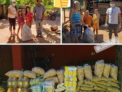 #ContraCoronaChallenge: Haedo dona víveres a familias necesitadas de San Joaquín