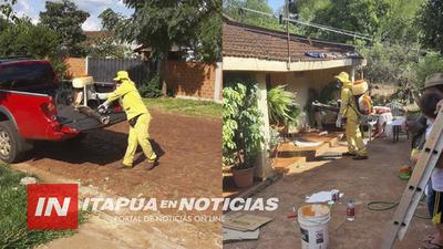FRAM NO BAJA LA GUARDIA CONTRA EL DENGUE Y FUMIGAN CASA POR CASA.