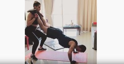 Carmiña Masi y la rutina de ejercicios junto a su novio