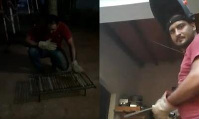 Naldy Cabrera dedica su tiempo libre a la herrería