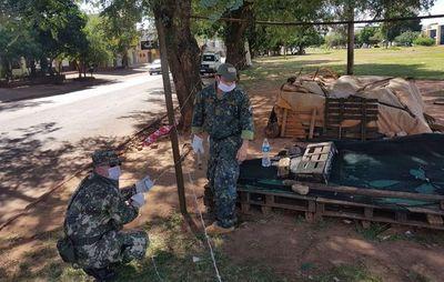 Militares cierran frontera en PJC  con alambre de púa