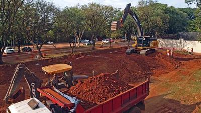 Esta tarde comienza la carga de hormigonado del piso para futuro hospital de contingencia en Itauguá