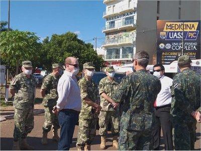 Covid-19: Ministro de Defensa supervisa cercado en PJC