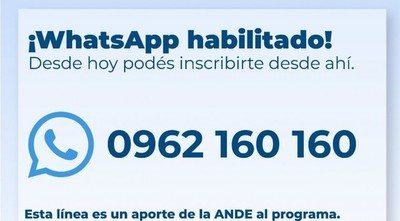 Habilitan WhatsApp para el programa Ñangareko