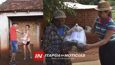 PRIMER DÍA DE ENTREGA DE LOS KITS ALIMENTARIOS EN SAN JUAN DEL PNÁ