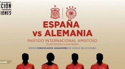 España y Alemania jugarán su amistoso de manera virtual