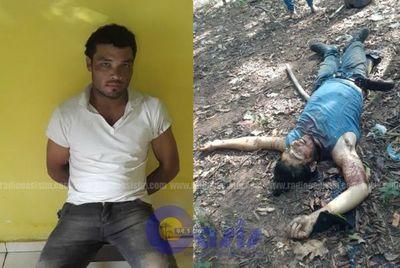 Policía captura a sospechoso de matar a su hermano  en zona de Yby Yau