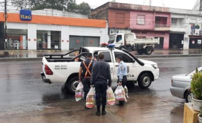 HOY / Ministerio Público distribuye kits de alimentos y limpieza a comisarías