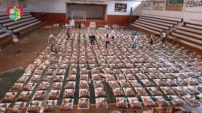 CNEL. BOGADO: COLECTAN MÁS DE 1.500 KITS DE VÍVERES PARA FAMILIAS GOLPEADAS POR LA CRISIS