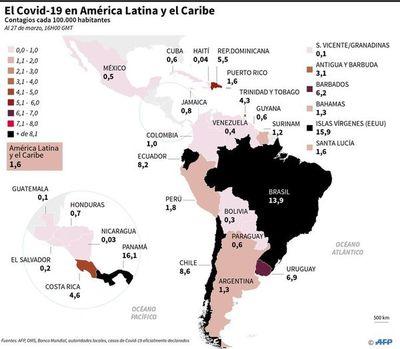 En América, EE.UU. concentra el 90% de  casos confirmados de coronavirus