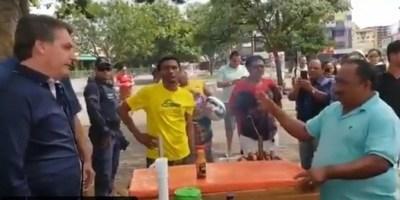 Jair Bolsonaro otra vez desoye recomendaciones de cuarentena, se pasea por las calles y charla con vendedores; esta vez sin tapabocas