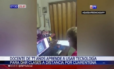 A sus 77 años, docente brinda clases virtuales en cuarentena