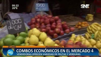 Ofrecen combos económicos de frutas y verduras en el Mercado 4