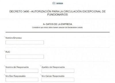 Habilitan impresión vía web de salvoconducto para laburadores