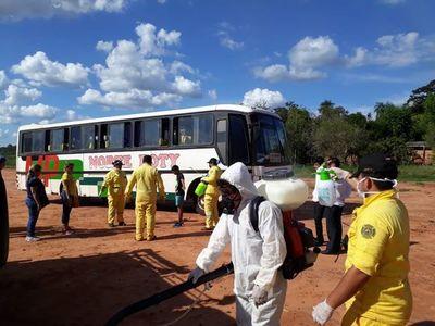Retienen en Choré a colectivo que trasportaba pasajeros