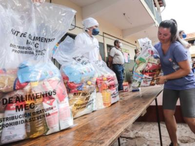 Kits de alimentos: Desde Calle Última la distribución le corresponde a intendentes y gobernadores