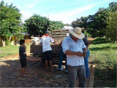 Productor repartió 2.000 kilos de mandioca a familias en Yby Yaú