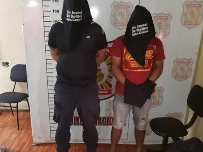 Capturan a un policía y a un civil, sospechosos de asaltos en Central