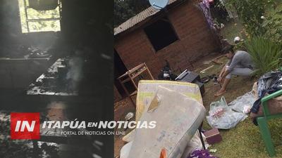 INCENDIO DEJA SIN NADA A MADRE SOLTERA Y SUS 5 HIJOS EN MARÍA AUXILIADORA