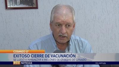 INMUNIZACIÓN DE AFTOSA LLEGÓA 4 MILLONES DE CABEZAS DE GANADO