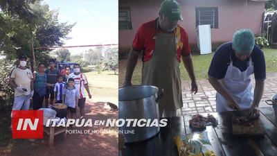 REPARTIERON 400 PLATOS DE COMIDA EN POPULOSO BARRIO DE CNEL. BOGADO
