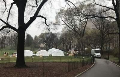 El Central Park se convierte en hospital de campaña temporal