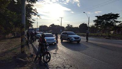Controlan ingreso a Asunción sobre la Transchaco