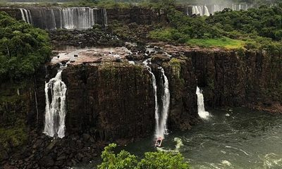 Las Cataratas del Iguazú sufren una histórica sequía