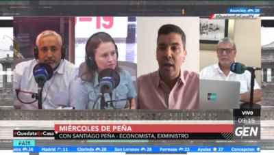 HOY / Santiago Peña, exministro de Hacienda, con su habitual bloque de Miércoles De Peña