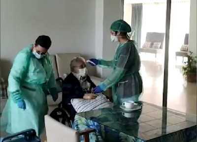 Paciente de 98 años se recupera del coronavirus